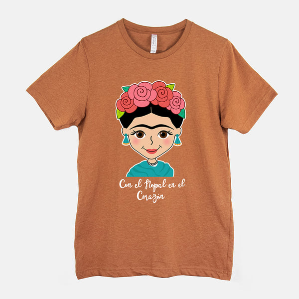 Frida Adult Color T-Shirt - Fiesta Kits USA
