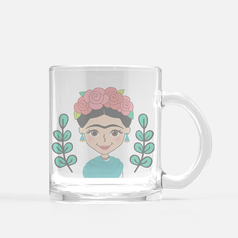 Frida Glass Mug - Fiesta Kits USA