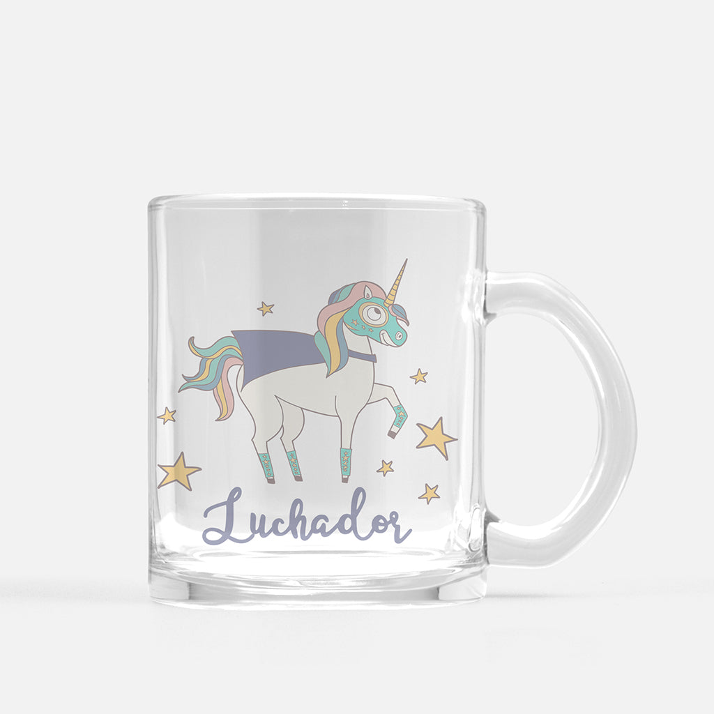 Luchador Unicorn Glass Mug - Fiesta Kits USA