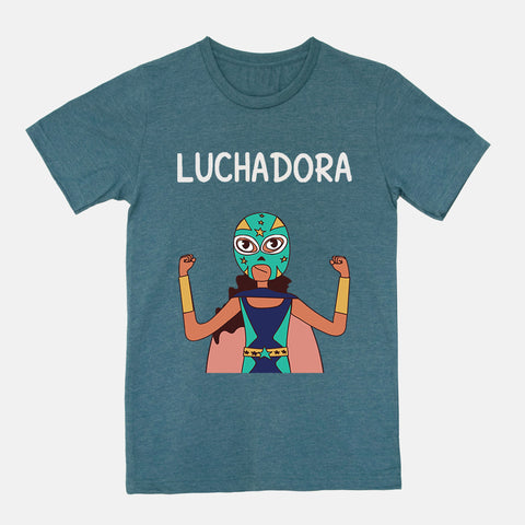 Luchadora Adult Color T-Shirt - Fiesta Kits USA