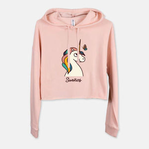 Unicorn Cropped Hoodie - Fiesta Kits USA