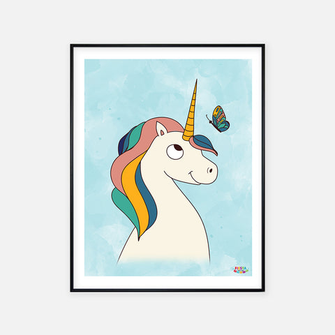 Unicorn Poster Print - Fiesta Kits USA