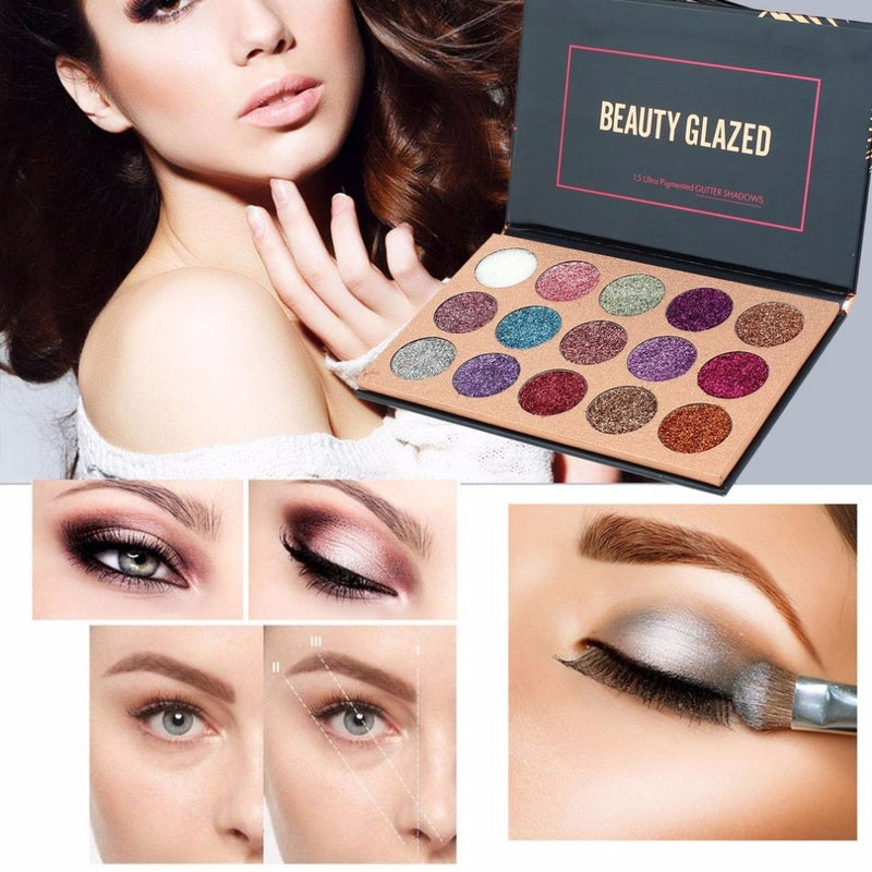 Beauty Glazed Pressed Glitter Eyeshadow Palette