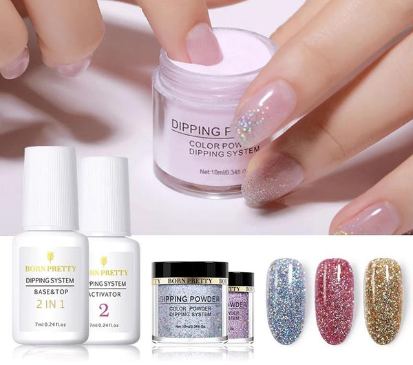 Holographic Dip Nail Powder