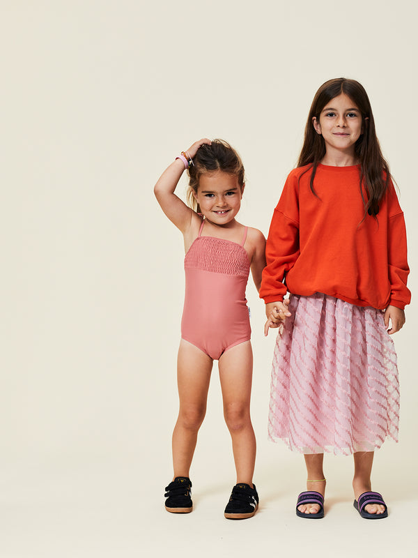 ROSY RINGTAIL / SMOCKED SWIMSUIT