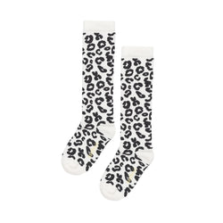WHITE LEOPARD / KNEE SOCKS