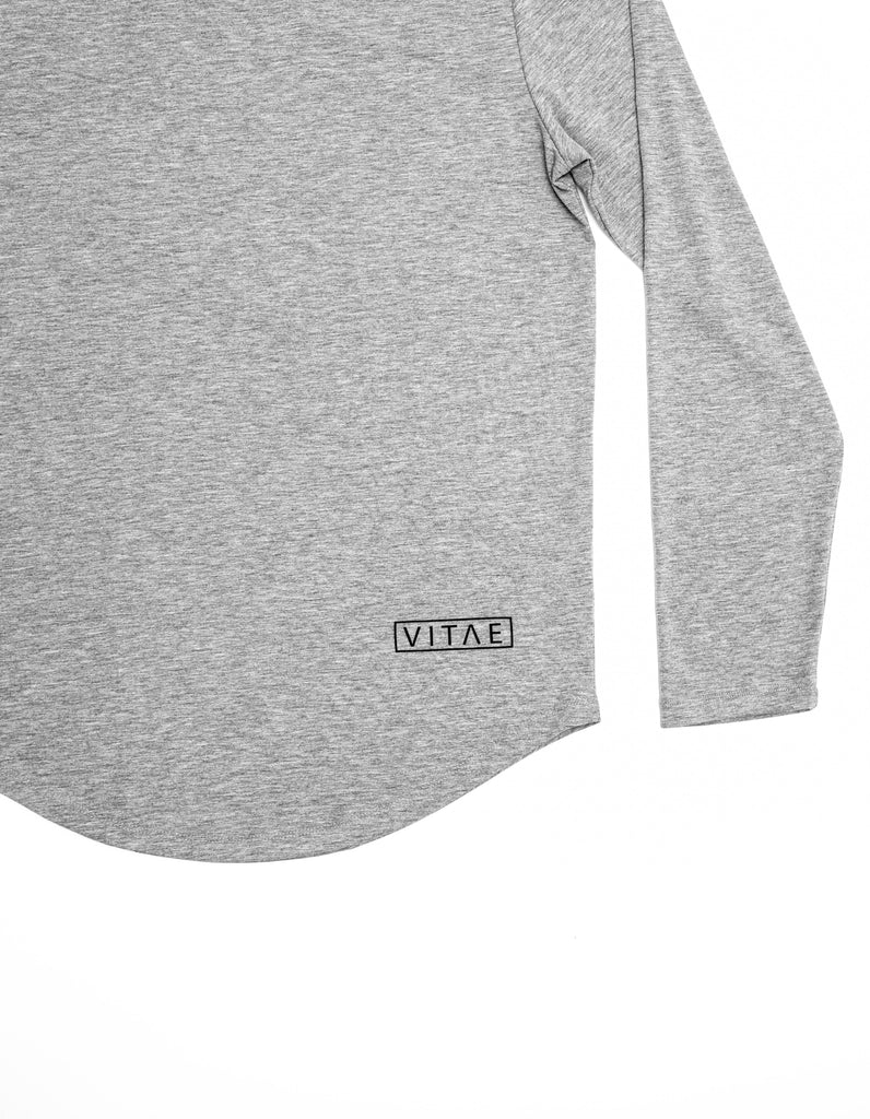Fitted V-Light Grey Sweatshirt