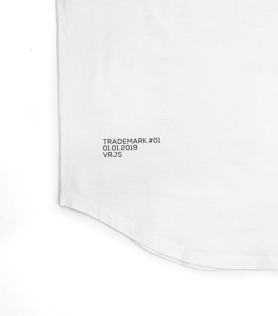 Vented Fitted White T-shirt