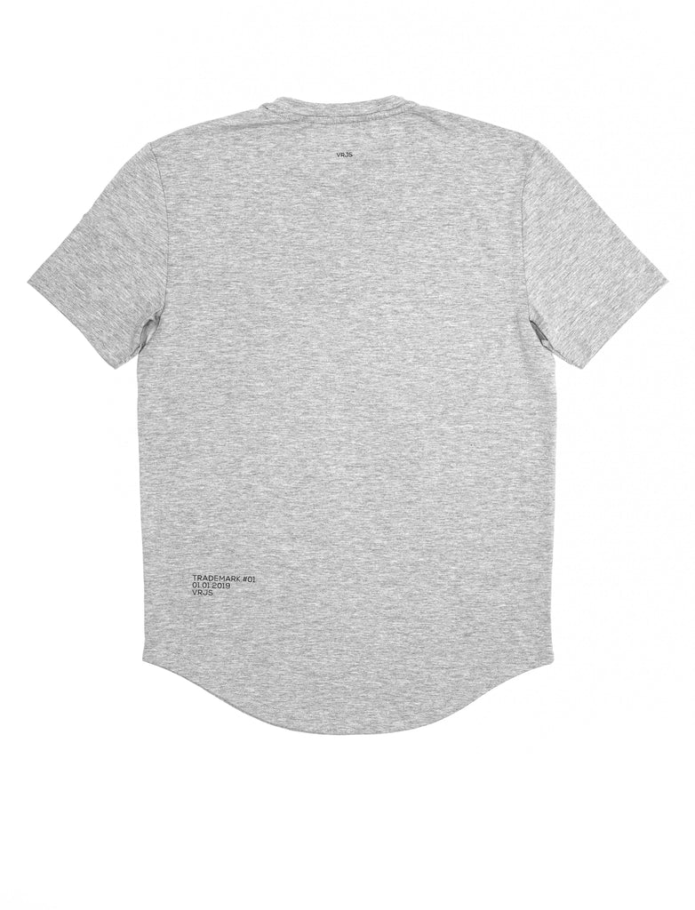 Vented Fitted Grey T-shirt