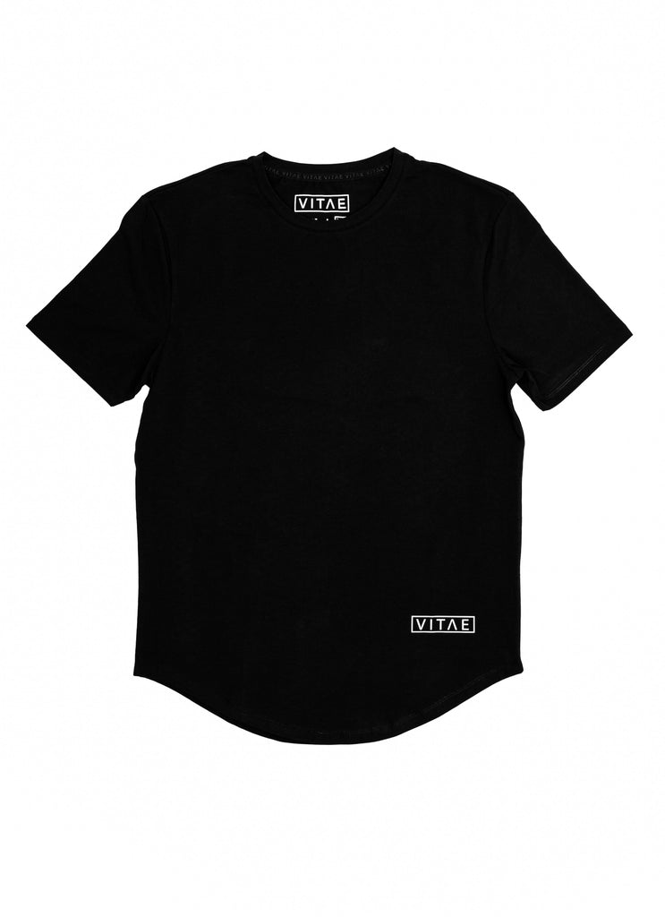 Vented Fitted Black T-shirt