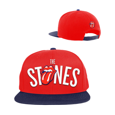 The Rolling Stones Tongue Hat Red