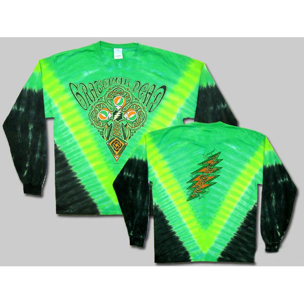 Grateful Dead Celtic Cross Tie Dye  Long Sleeve