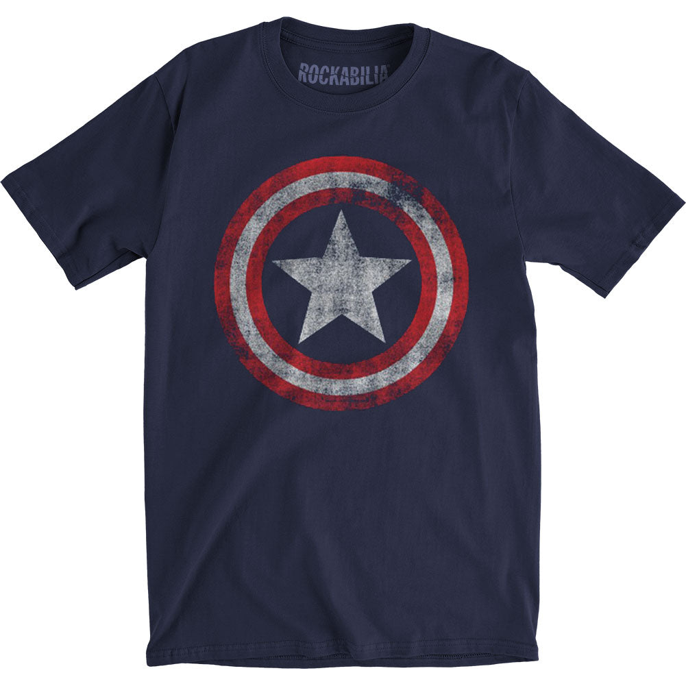 Distressed Shield Slim Fit T-shirt