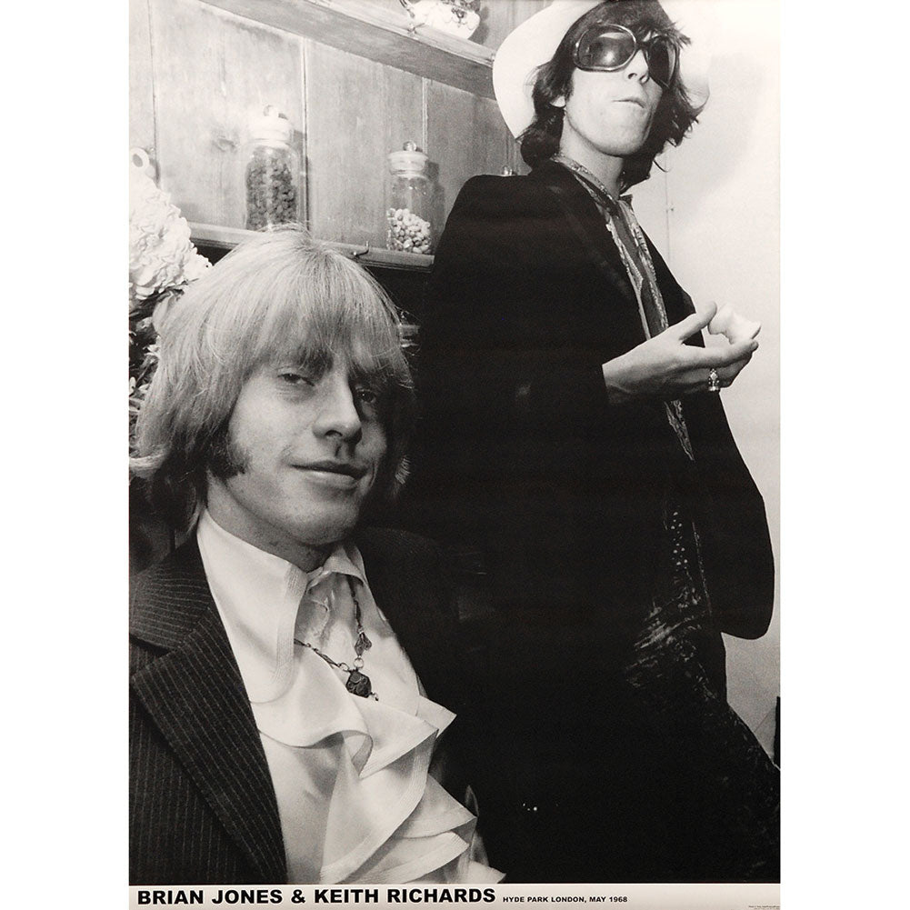 Brian Jones & Keith Richards Import Poster