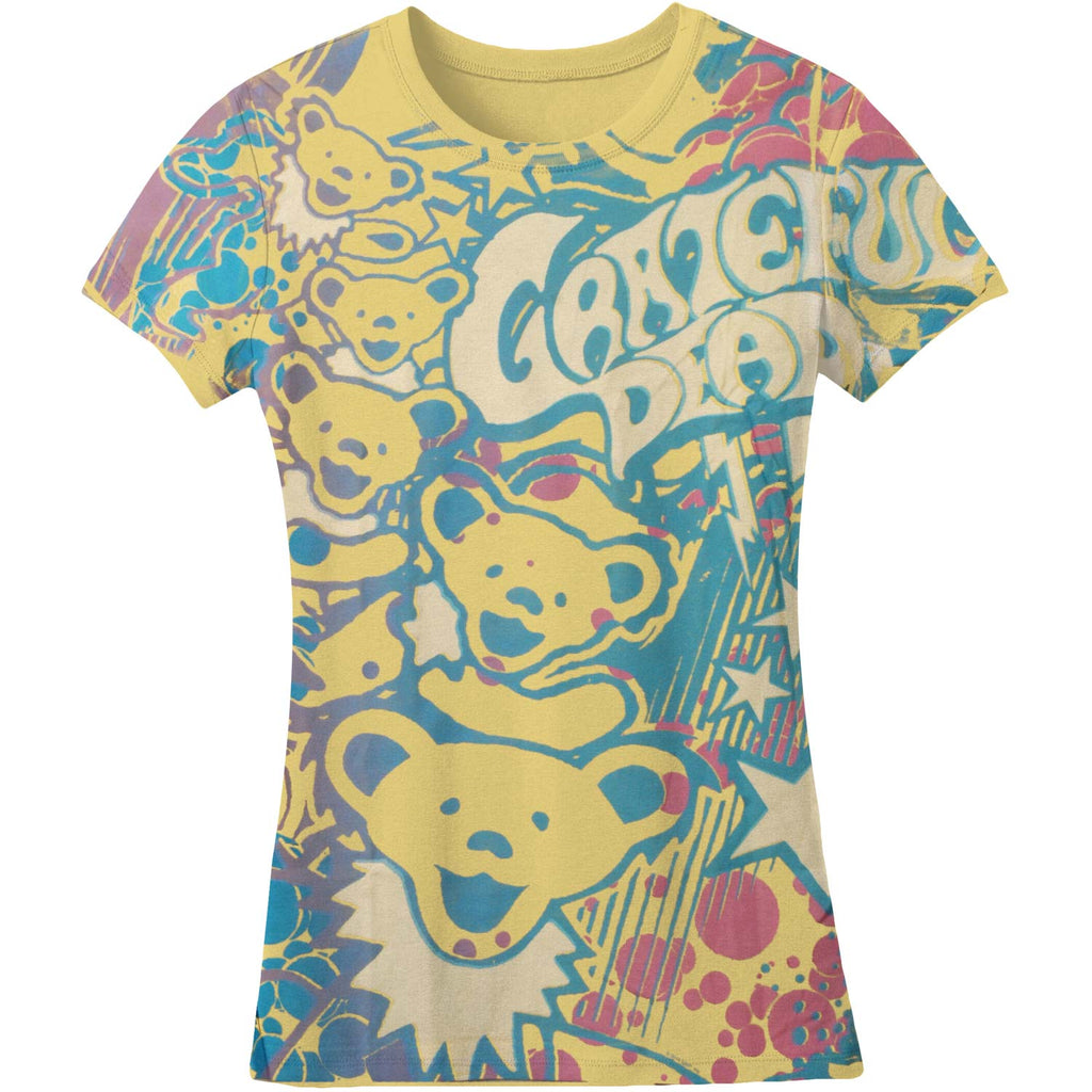 Bubble Gum Bears Juniors Long Length Junior Top
