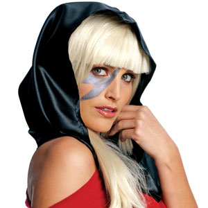 Lady Gaga Black Head Scarf Costume Accessory