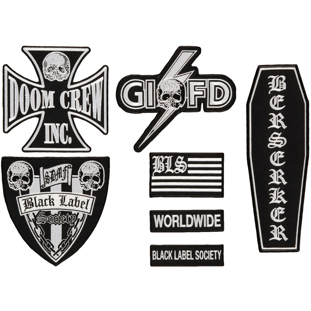 Black Label Society BLS Front Patch Set Patch Set