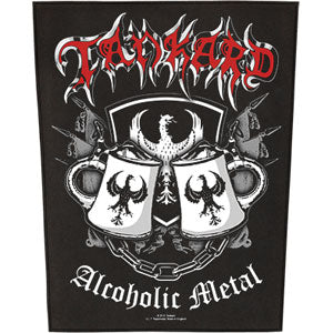 Alcoholic Metal Back Patch