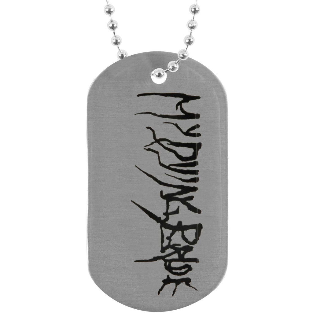 My Body A Funeral Dog Tag Necklace