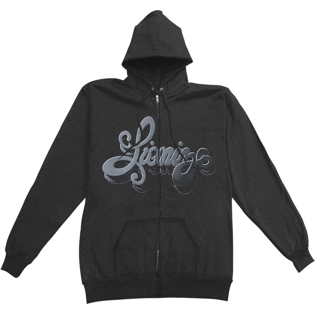 Blackout Zippered Hooded Sweatshirt