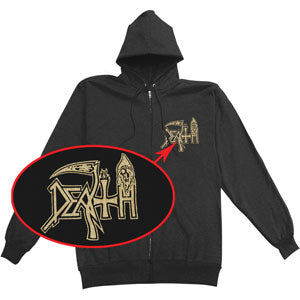 Human Zippered Hooded Sweatshirt