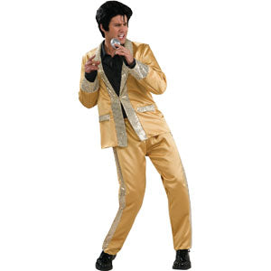 Gold Satin Suit Deluxe Adult Elvis Presley Costume Costume