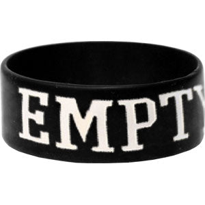 Empty Hands Rubber Bracelet