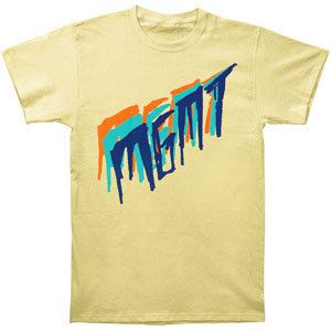Tri-Color Scratch On Yellow Slim Fit T-shirt