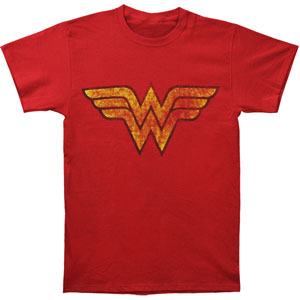 Distressed Wonder Woman Logo T-shirt