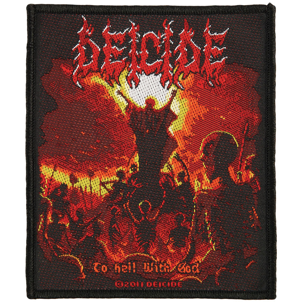 To Hell With God Woven Patch