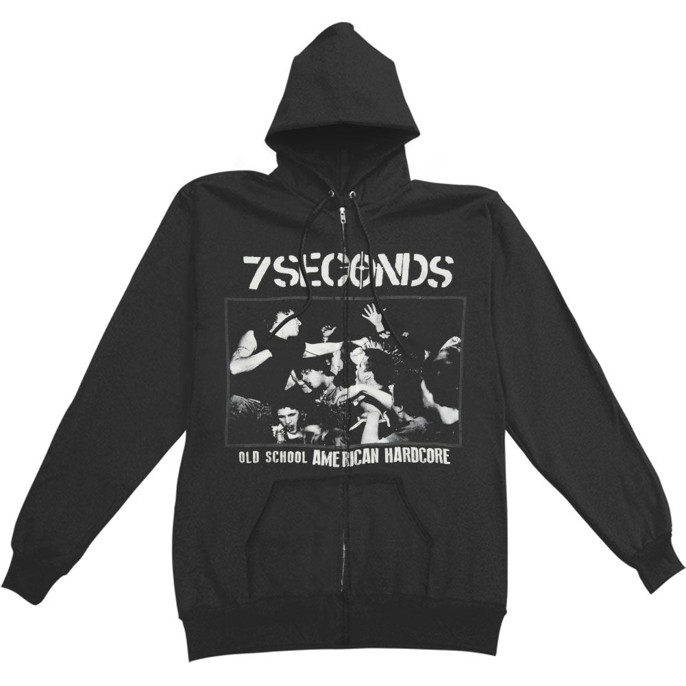 7 Seconds Old School American Hardcore Zippered Hooded Sweatshirt