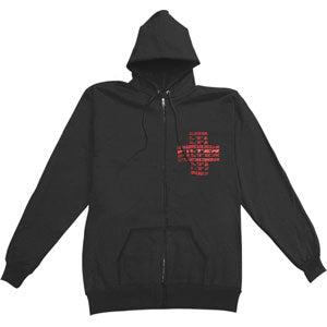 Cross Zippered Hooded Sweatshirt