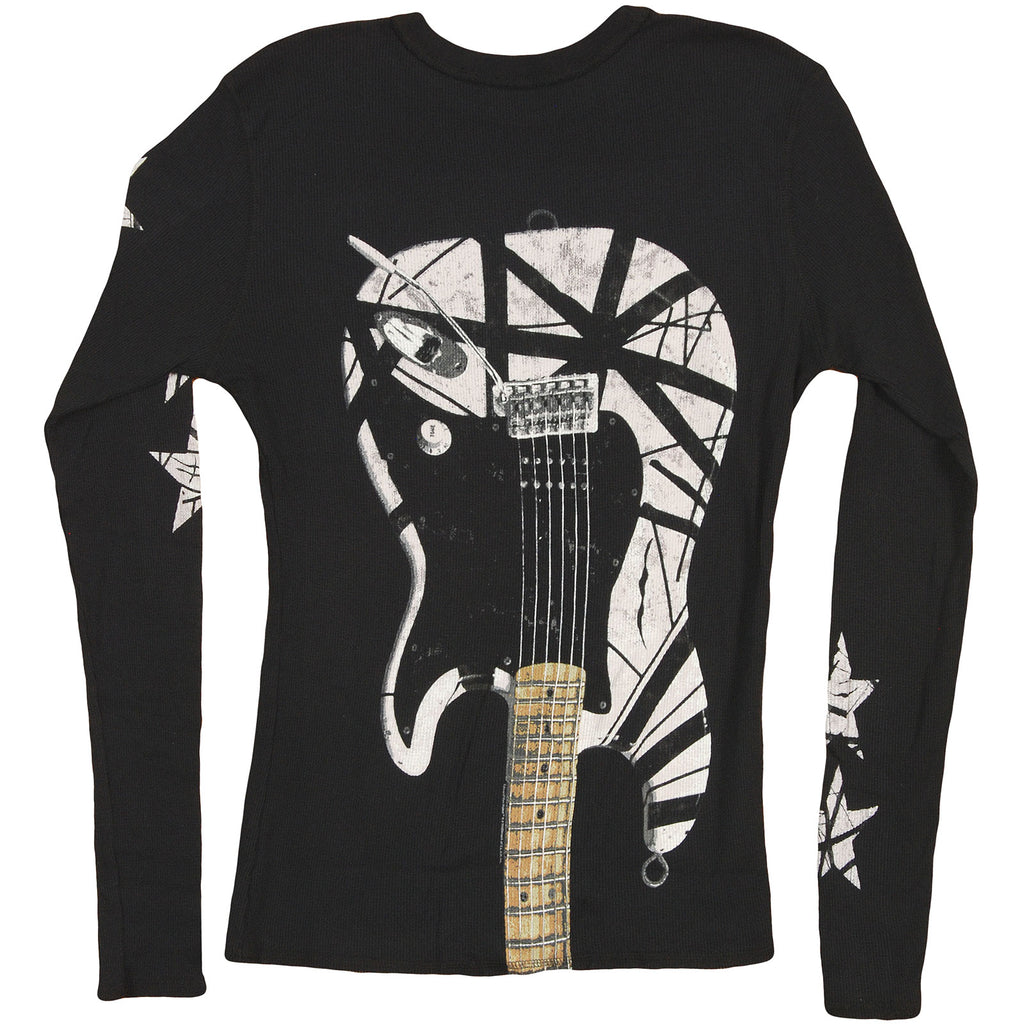 B&W Stripes Guitar Thermal  Long Sleeve