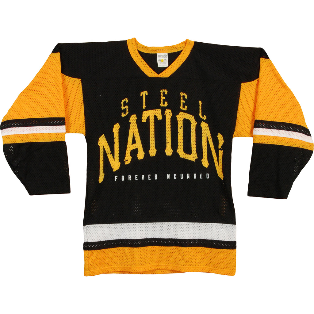 Steel Nation Forever Wounded Hockey Jersey