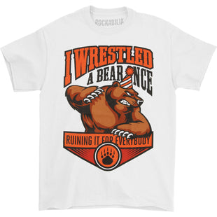 Official Iwrestledabearonce Hail Mary T-Shirt Merch Courtney LaPlante Late For
