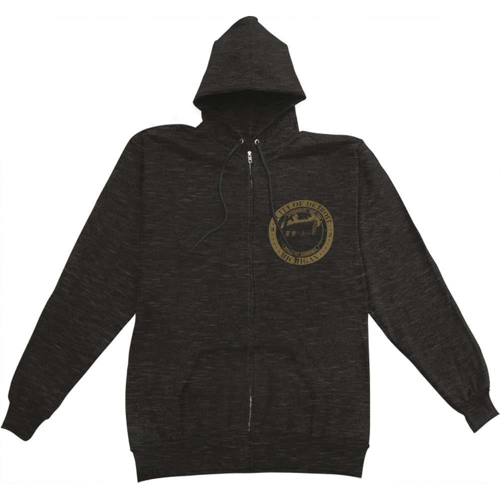 Detroit Seal Zippered Hooded Sweatshirt