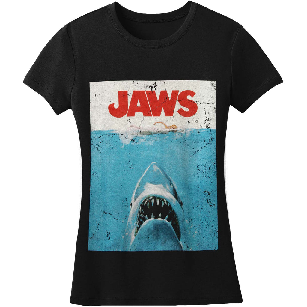 Jaws Poster by Rock Rebel Women's Tee Junior Top