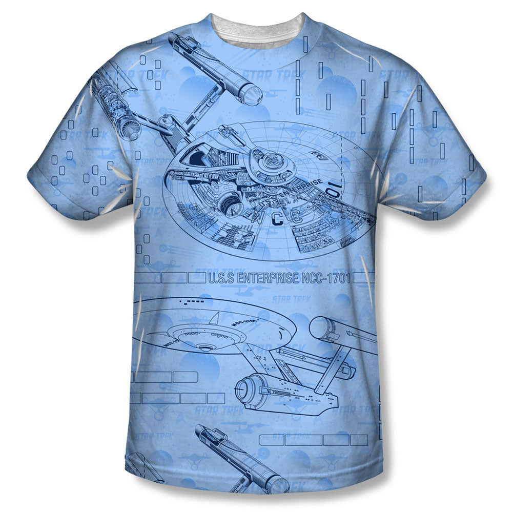 Blue Print Sublimation T-shirt