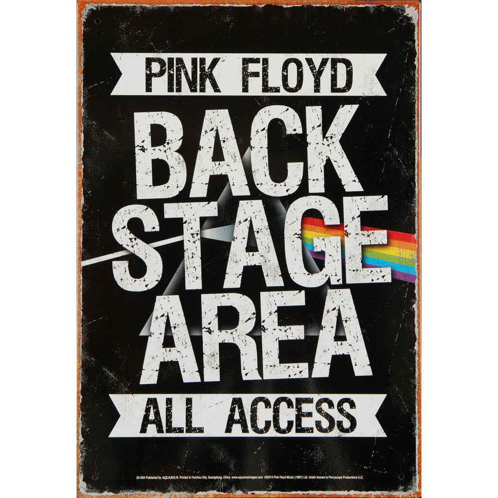 Backstage Tin Concert Sign