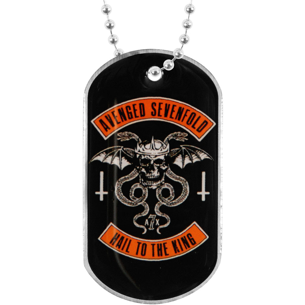 Biker Dog Tag Necklace