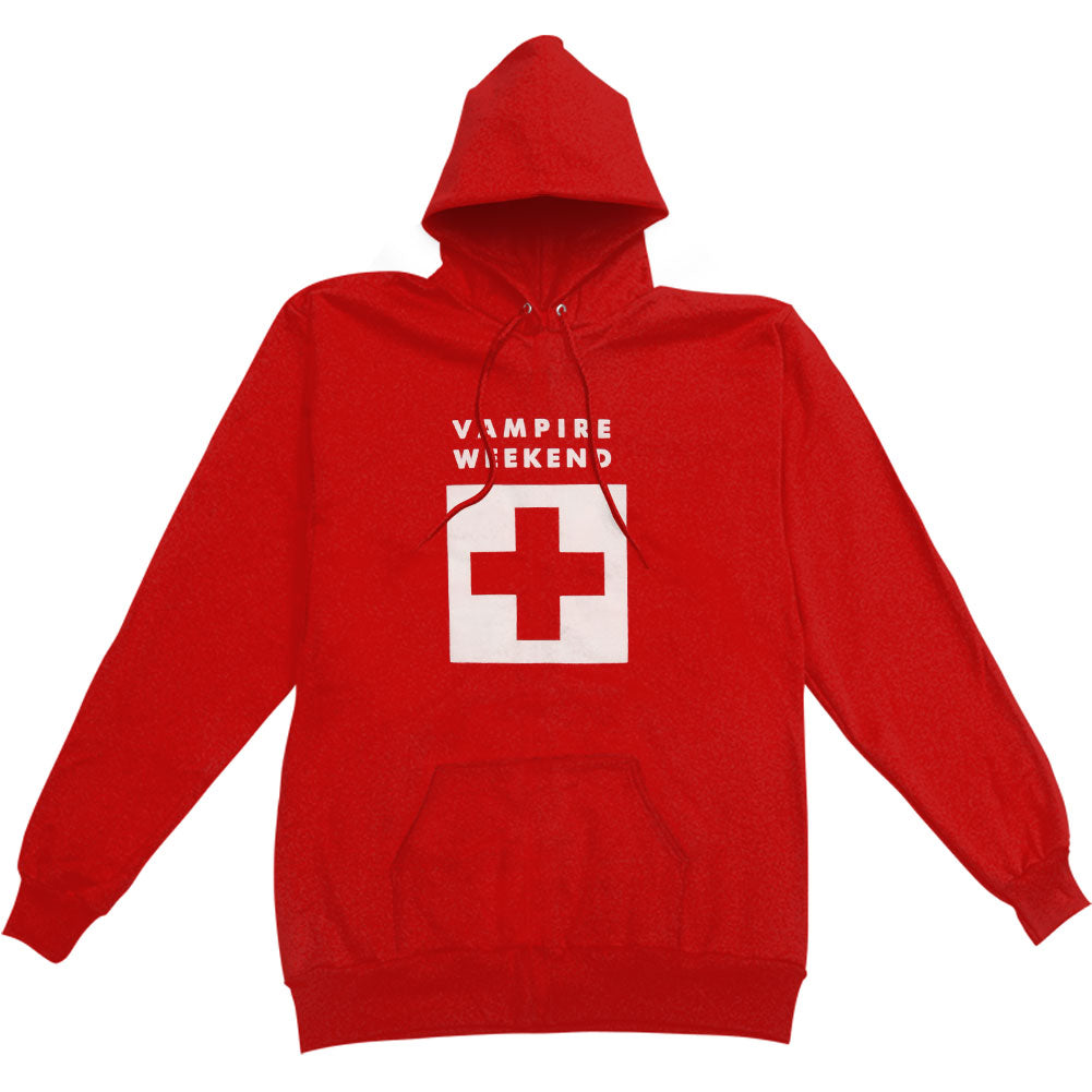 Red Ski Patrol Hoodie Hooded Sweatshirt
