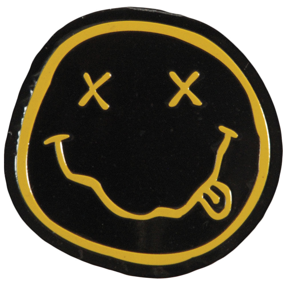 Smiley On Gold Sticker