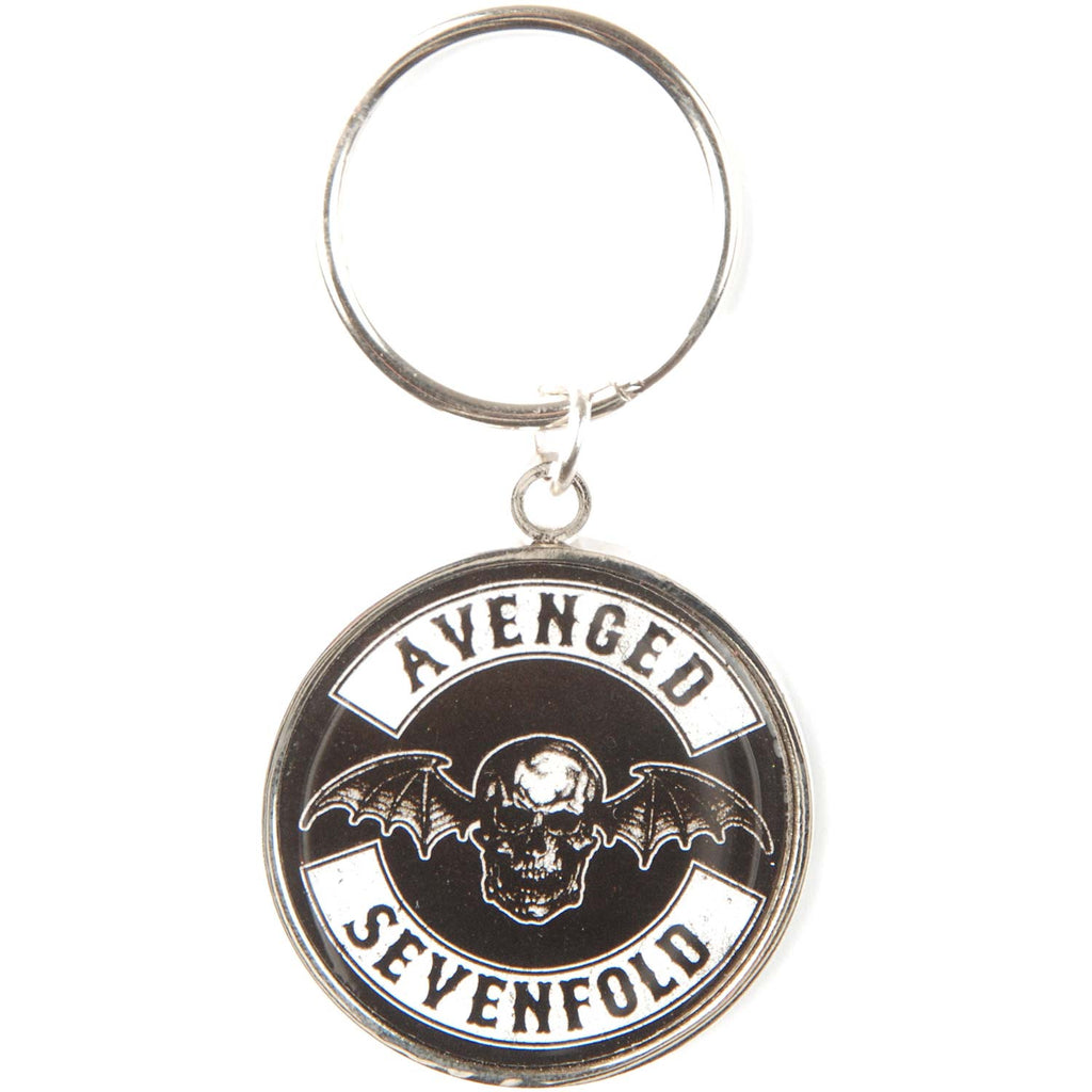 Death Bat Crest Metal Key Chain