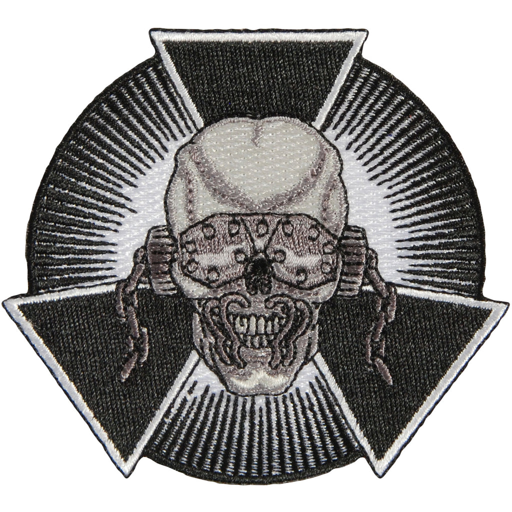 Skull Burst Embroidered Patch