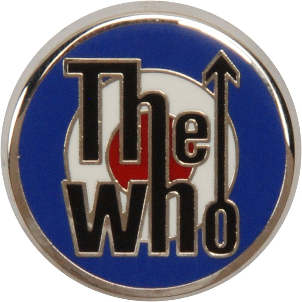 Who Target Logo Pewter Pin Badge