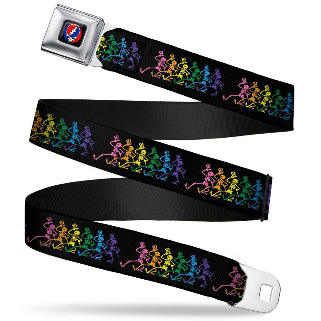 Dancing Skeletons Seatbelt Buckle Belt