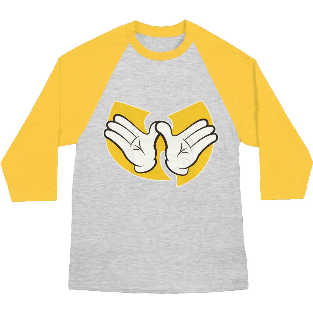 Hands 3/4 Sleeve Mens Raglan Baseball Jersey