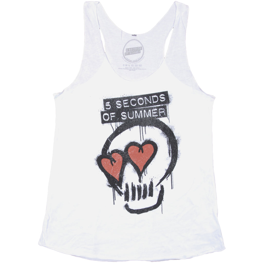 Heart Eyes Skull Womens Tank