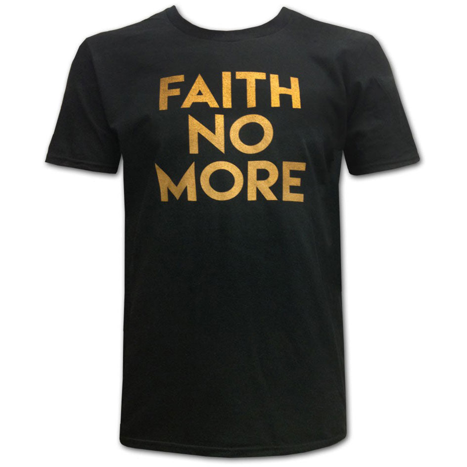Gold Text Slim Fit T-shirt