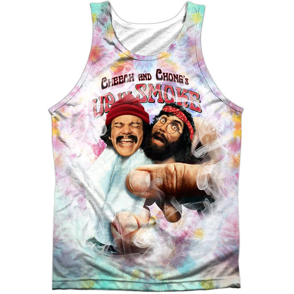 Fried Tie Dyed 100% Poly Mens Tank